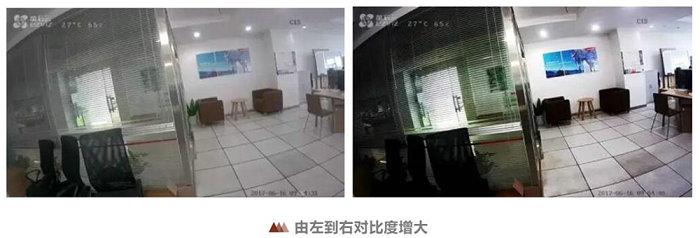 网络摄像头对比度调节对比图