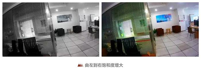 网络摄像头饱和度调节对比图