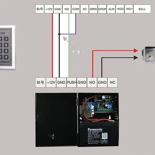 电控锁门禁接线方式