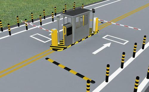 停车场道闸项目施工