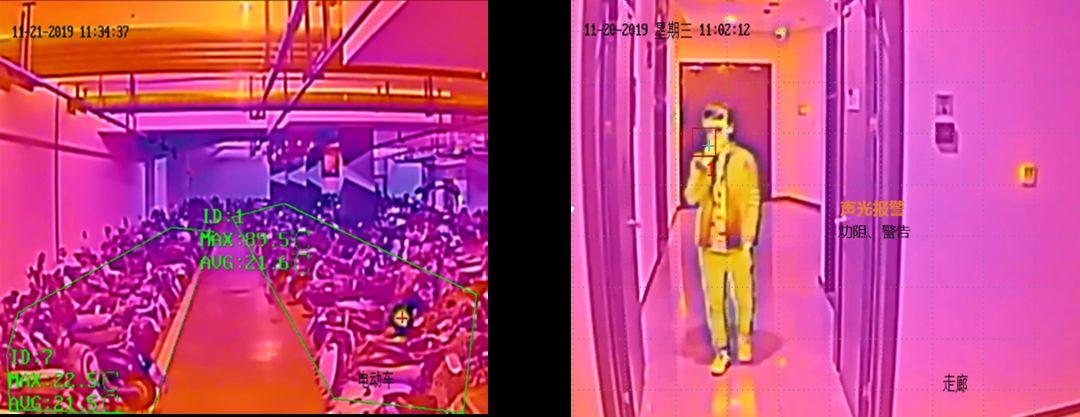 海康威视网关相机烟感套装成像效果图